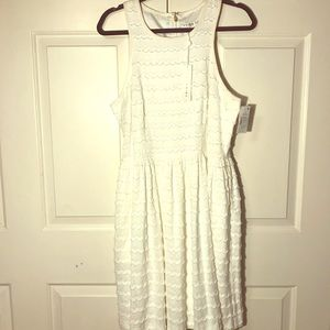 Trina Turk Fit and Flare Ivory Crepe Dress-NWT 🏷